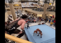 wrestler jumps from 2nd story of kenner mall