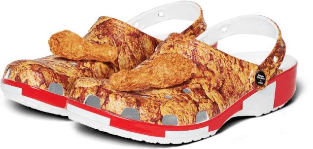 kfc fried chicken bucket crocs