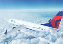 delta airlines airplane flying