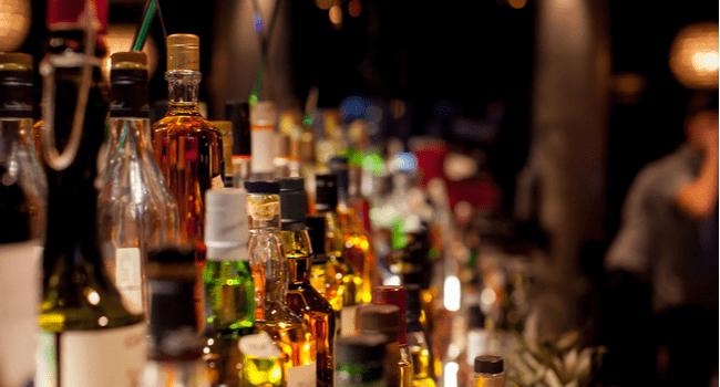 liquor bottles bar